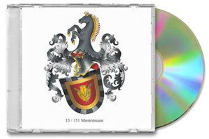 Daten Familienwappen, Familienwappen Daten CD, Wappen erstellen, Wappen Zeichnung